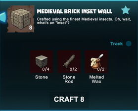Creativerse R41 crafting recipes colossal castle medieval brick inset wall01