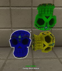 Creativerse candy skull statue 2017-10-19 10-39-32-78 candles etc