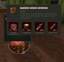 Creativerse Barred Window loot bag44784