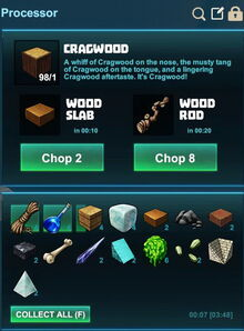 Creativerse processing wood into slabs or rods 2017-08-07 21-29-10-27