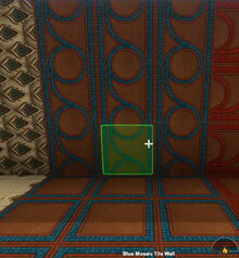 Creativerse Blue Mosaic Tile Wall rotated66010