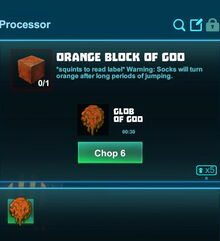 Creativerse processing orange goo 2018-08-23 00-54-57-45 colored goo