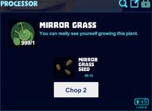 Mirror grass processor