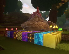 Creativerse Rockzilla spawned on a mixture of suitable blocks and crafted light sources 2018-12-26 18-18-38-45