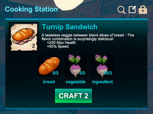 Cooking station-Sandwich-Turnip sandwich-R50