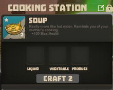 Creativerse Cooking Station starts with soup01
