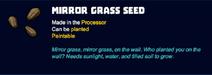Mirror grass seed