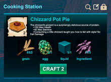 Cooking station-Pie-Chizzard pot pie-R50
