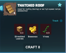 Creativerse crafting thatched roofs R39