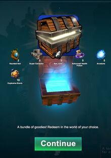 Creativerse large Halloween login chest