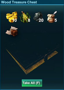 Content Of Wood Treasure Chest