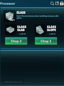 Creativerse processing slopes glass