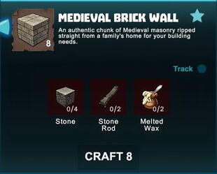Creativerse R41 crafting recipes colossal castle brick wall01