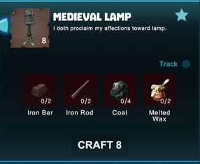Creativerse R41 crafting recipes colossal castle medieval lamp02
