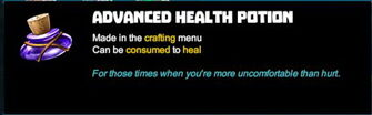 Creativerse R41 tooltip Advanced Health Potion001