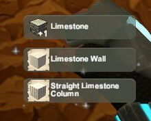 Creativerse unlock R22 Limestone Limestone Wall Column