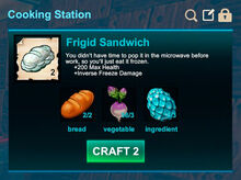 Cooking station-Sandwich-Frigid sandwich-R50