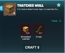 Creativerse crafting thatched walls