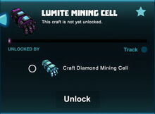 Creativerse unlocks R41 lumite mining cell01