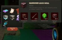 Creativerse Hardened Lava Wall Thing43848