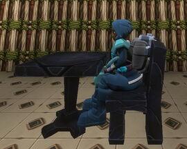 Creativerse R38 obsidian chair sitting002