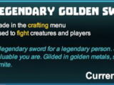 Legendary Golden Sword