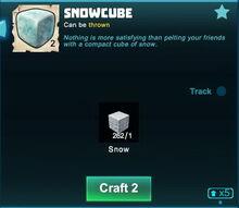 Creativerse snowcube crafting now in crafting menu 2018-09-27 21-23-03-58