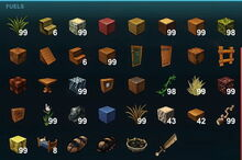 Creativerse forge fuel types 2017-08-07