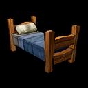 Bed Wood Blue