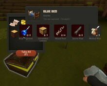 Creativerse Blue Bed Wood Chest5737