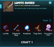 Creativerse sword crafting recipe 83