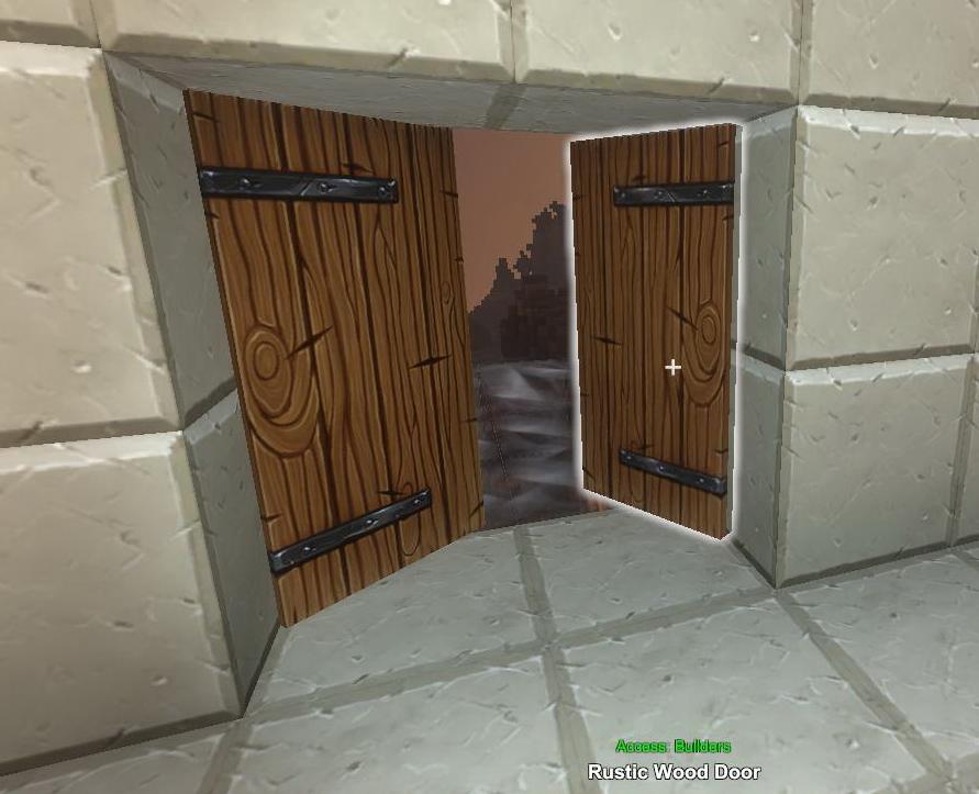 on wooden door rustic