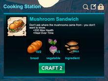 Cooking station-Sandwich-Mushroom sandwich-R50