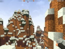Creativerse Canyons snowy and green001