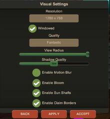 Creativerse R33 visual settings enable claim borders001