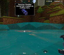 Creativerse mining cells water needs obsidian