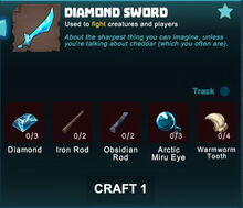 Creativerse sword crafting recipe 84
