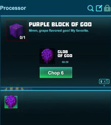 Creativerse processing purple goo 2018-08-23 00-54-18-35 colored goo