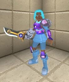 Creativerse sword holding 106