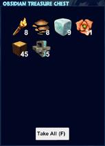 Obsidian treasure chest loot
