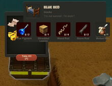Creativerse Blue Bed Wood Chest5858