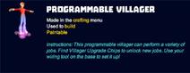 Programmable villager desc