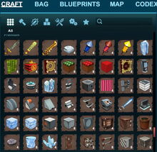 Creativerse crafting recipes All TAB example 017