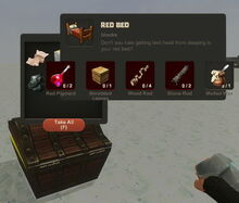 Creativerse Red Bed Wood Chest4884