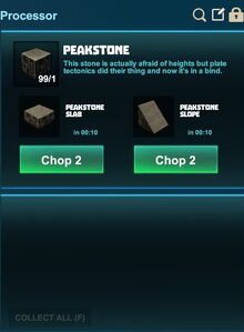 Creativerse processing slopes peakstone