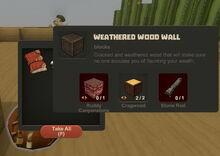 Creativerse Weathered Wood Wall Dustevil loot001