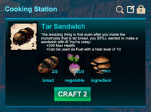 Cooking station-Sandwich-Tar sandwich-R50