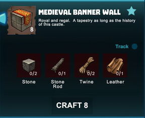 Creativerse R41 crafting recipes colossal castle medieval banner wall01