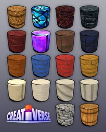 Creativerse columns all 18