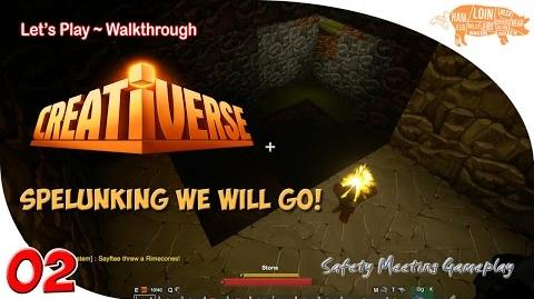 ~ Creativerse Multiplayer Gameplay ep02 Spelunking and World Exploration...
